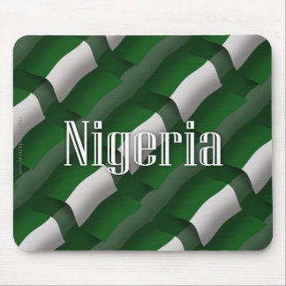 Nigeria Waving Flag Mouse Pads
