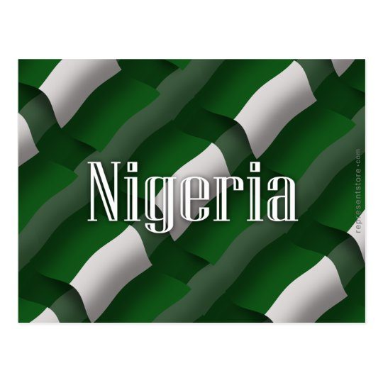 Nigeria Waving Flag Postcard