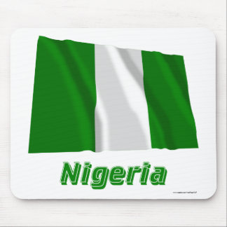 Nigeria Waving Flag with Name Mousepads