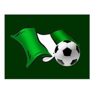 Nigeria wavy flag ball shirts & gifts postcard