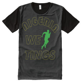 Nigeria we run tings All-Over print t-shirt