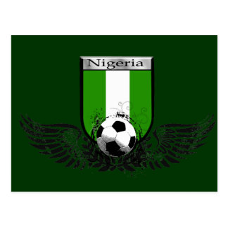 Nigeria Winged soccer football emblem shield Postcard