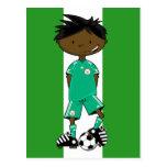 Nigeria World Cup Soccer Boy Post Card