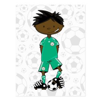 Nigeria World Cup Soccer Boy Postcard