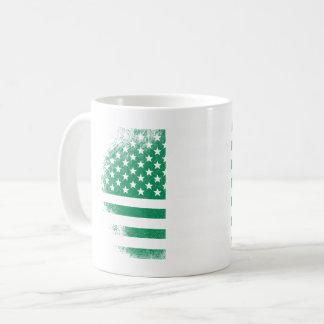 Nigerian American Flag   Nigeria and USA Design Coffee Mug