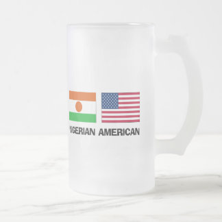 Nigerian American Frosted Glass Beer Mug