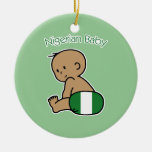 Nigerian Baby Double-Sided Ceramic Round Christmas Ornament