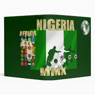 Nigerian ball for Nigerian soccer players 3 Ring Binder