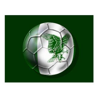 Nigerian ball for Nigerian soccer players Postcard
