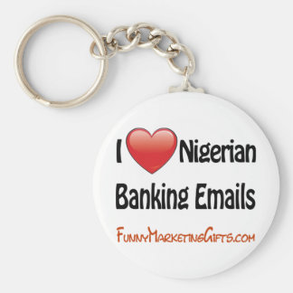 Nigerian Banking Email Humor Keychain