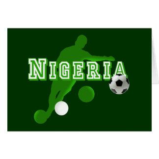 Nigerian bend it Nigeria flag logo shirts & gifts Card