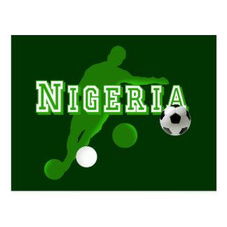 Nigerian bend it Nigeria flag logo shirts & gifts Postcard