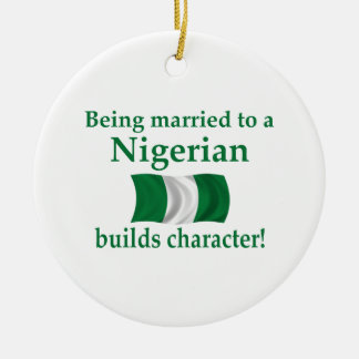 Nigerian Builds Character Ceramic Ornament