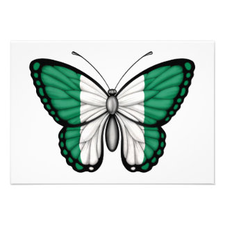 Nigerian Butterfly Flag Invites