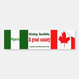 nigerian canadian bumper sticker
