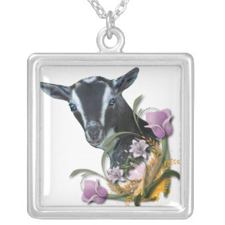 Nigerian Dwarf Goat  Floral Necklace