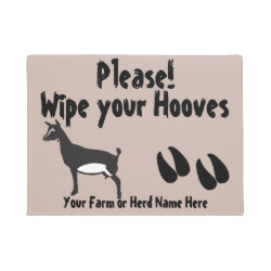 Nigerian Dwarf Goat Wipe your Hooves CHOOSE COLOR Doormat