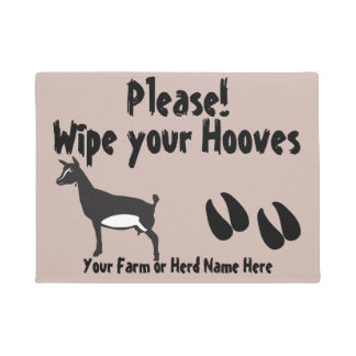 Nigerian Dwarf  Goat Wipe your Hooves CHOOSE COLOR Doormat