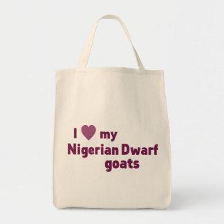 Nigerian Dwarf goats Grocery Tote Bag