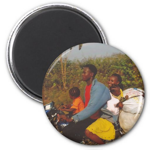 Nigerian Family 2 Inch Round Magnet