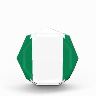 Nigerian flag acrylic award