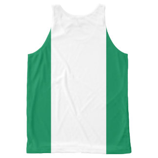 Nigerian flag All-Over print tank top