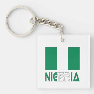 Nigerian Flag and Nigeria Acrylic Keychain