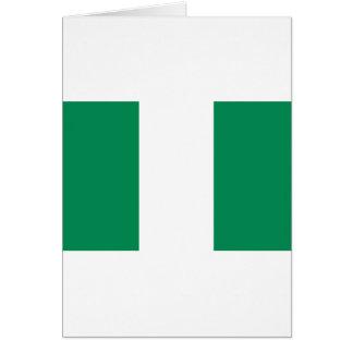 Nigerian Flag Card