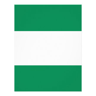 Nigerian Flag Customized Letterhead