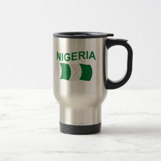 Nigerian Flag 15 Oz Stainless Steel Travel Mug