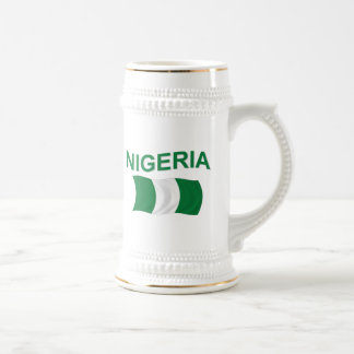 Nigerian Flag 18 Oz Beer Stein