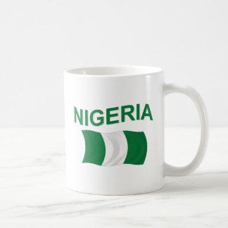 Nigerian Flag Classic White Coffee Mug