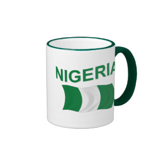 Nigerian Flag Ringer Coffee Mug