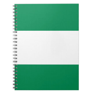 Nigerian Flag Spiral Note Books