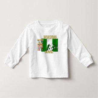 Nigerian flag of Naija 32 Country flag childrens T T-shirt
