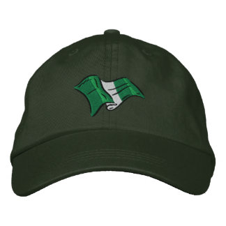 Nigerian flag of nigeria Naija embroidered cap