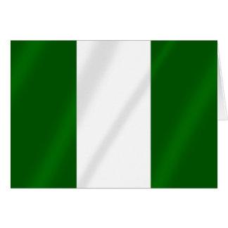 Nigerian flag of Nigeria shirts and presents Card