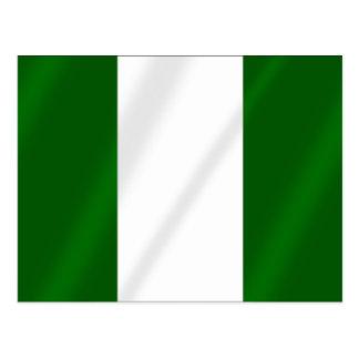 Nigerian flag of Nigeria shirts and presents Postcard