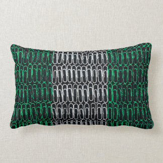 Nigerian Flag of Paperclips Lumbar Pillow