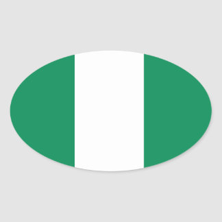 Nigerian Flag Oval Sticker