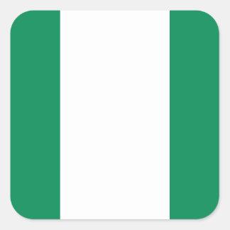 Nigerian Flag Square Sticker