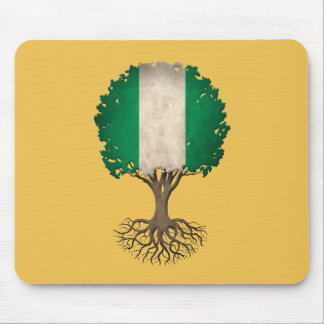 Nigerian Flag Tree of Life Customizable Mouse Pad