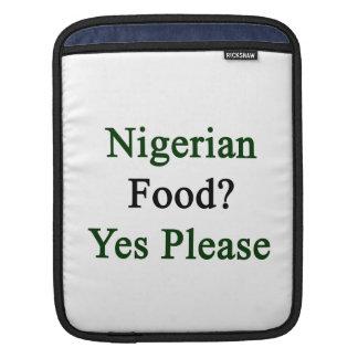 Nigerian Food Yes Please iPad Sleeves