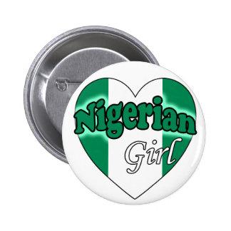 Nigerian Girl Pinback Button