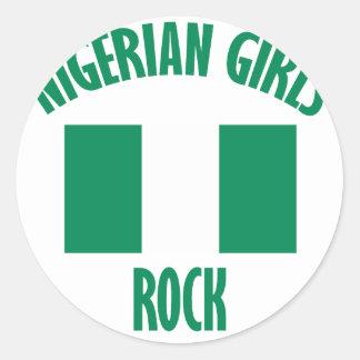 Nigerian girls DESIGNS Classic Round Sticker