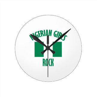Nigerian girls DESIGNS Round Clock