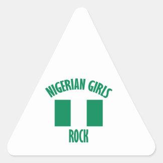 Nigerian girls DESIGNS Triangle Sticker