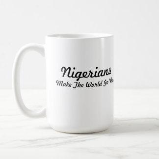 Nigerian Head in Heart Coffee Mugs