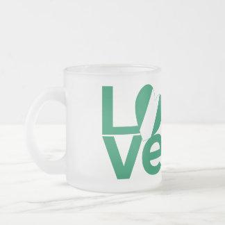 Nigerian LOVE Green 10 Oz Frosted Glass Coffee Mug