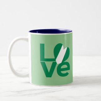 Nigerian LOVE Green Two-Tone Coffee Mug